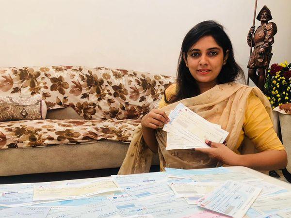 દાન કરનાર સામાજિક કાર્યકર્તા નિશિતા રજપૂતની તસવીર - Divya Bhaskar