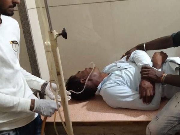 વેપારીને સારવાર અર્થે ખસેડાયો હતો. - Divya Bhaskar