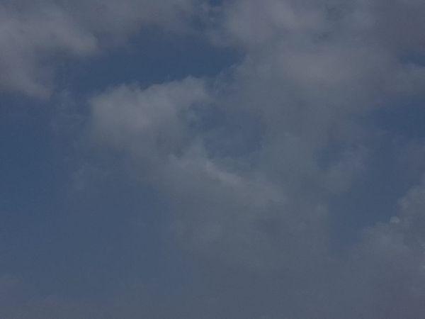 મોટાભાગના વિસ્તારોમાં વાદળછાયું વાતાવરણ જોવા મળ્યું