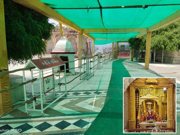 બહુચરાજીમાં યાત્રાળુઓ માટે મંડપની વ્યવસ્થા - Divya Bhaskar