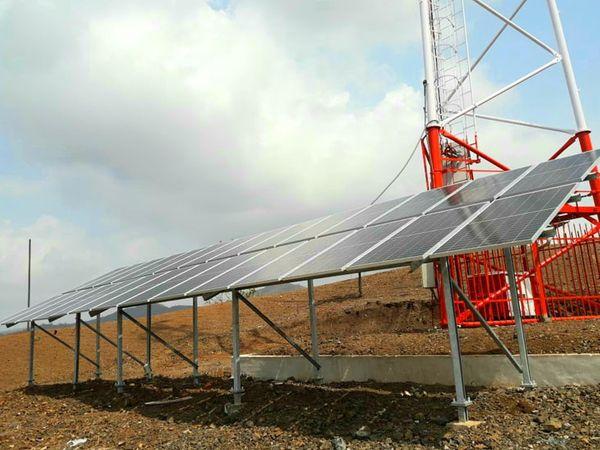 સોલાર પેનલ જનરેટર સાથે ટાવર કાર્યરત કરાયો. }ઈરફાન લકીવાલા - Divya Bhaskar