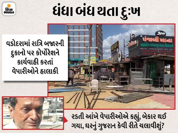 કોર્પોરેશન દ્વારા દુકાનદારોને નોટિસ આપી ભાડાની પઠાણી ઉઘરાણી શરૂ કરી હોવાના આક્ષેપ વેપારીઓએ કર્યા હતાં. - Divya Bhaskar