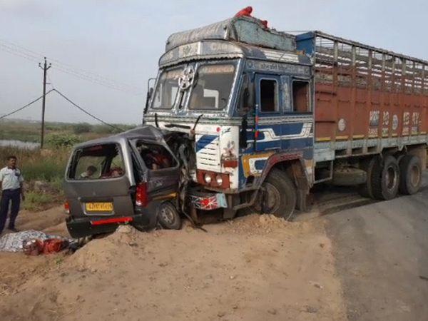 તારાપુર હાઇવે પર 6 દિવસ પહેલા ટ્રક અને ઇકો વચ્ચે અકસ્માત થયો હતો