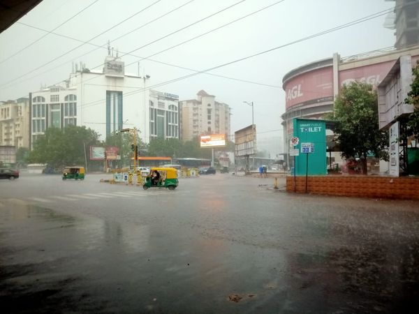 It rained in many parts of Ahmedabad city