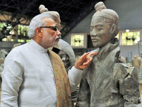 मई 2015 में प्रधानमंत्री नरेंद्र मोदी ने शांक्सी जाकर टेराकोटा आर्मी को देखा था।