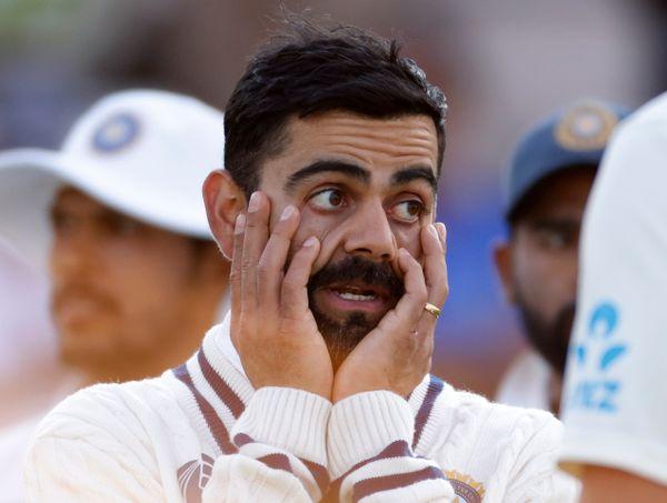 मैच के बाद कोहली कुछ यूं नजर आए।