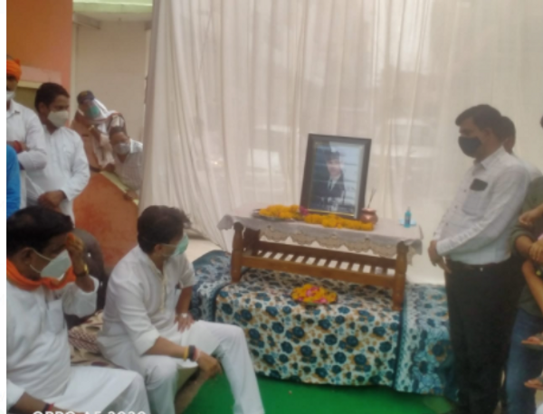 रामशंकर के बेटे आलोक शर्मा के निधन पर शोक संवेदना की व्यक्त।