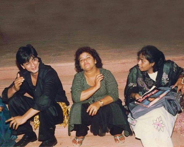 सरोज खान के साथ शाहरुख खान।