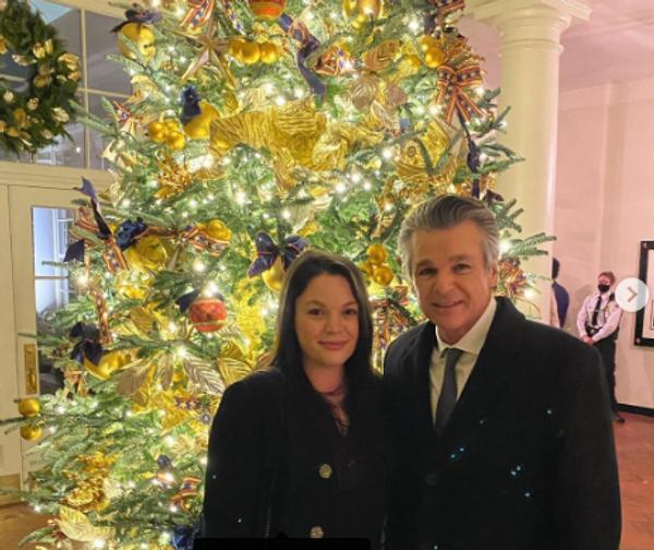 व्हाइट हाउस में अपनी बेटी के साथ जेंटजन फ्रेंकलिन।