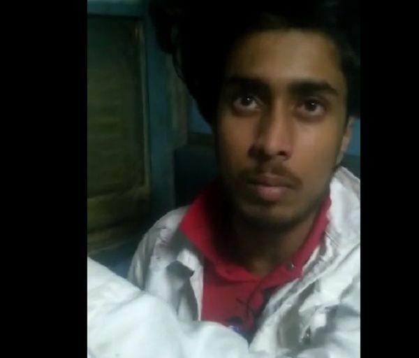 घटना की जानकारी देता कैदी कुणाल शर्मा।
