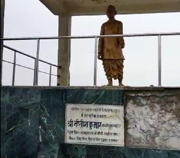 चंपारण सत्याग्रह के प्रणेता राजकुमार शुक्ल का स्मारक।