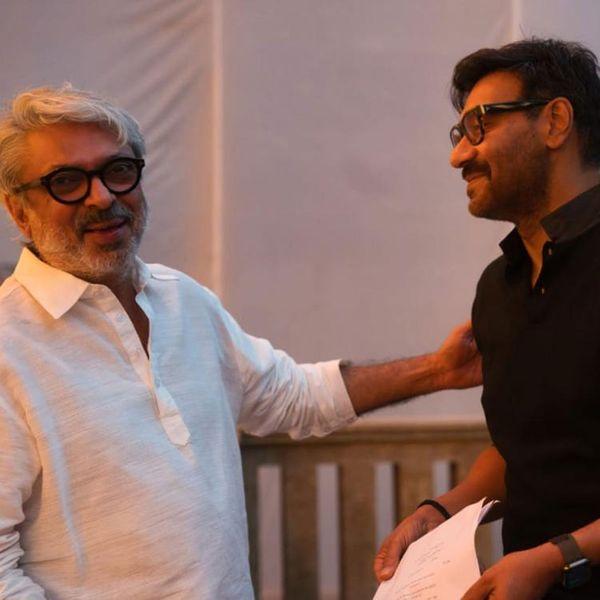 फिल्म के सेट पर संजय और अजय