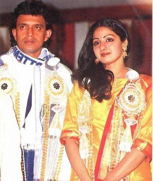 मिथुन से रिश्ता टूटने के बाद श्रीदेवी ने 1996 में फिल्म निर्माता बोनी कपूर से शादी कर ली थी।