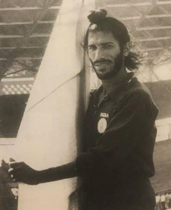 1962 जकार्ता एशियन गेम्स के दौरान मिल्खा सिंह।