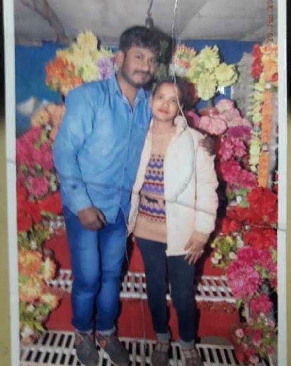 आरोपी रवि पारधी और मृतक प्रेमिका नीलम का कुछ दिन पहले साथ खिंचवाया एक फोटो, पर शक में पूरा रिश्ता दाव पर लग गया
