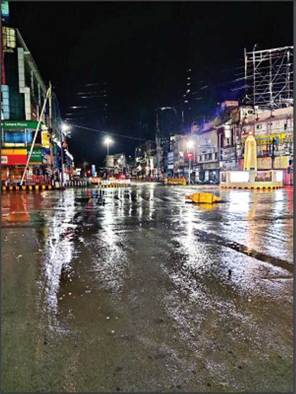 Heavy rains lashed Raipur on Wednesday