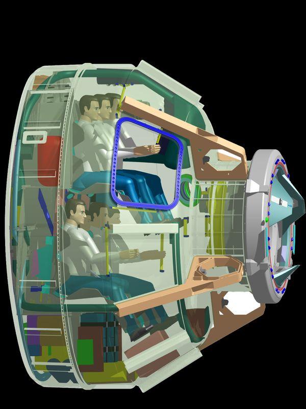 नासा ने बोइंग के स्टारलाइनर की यह डिजाइन शेयर की है। यह रॉकेट के साथ अंतरराष्ट्रीय स्पेस स्टेशन तक जाने वाला है।