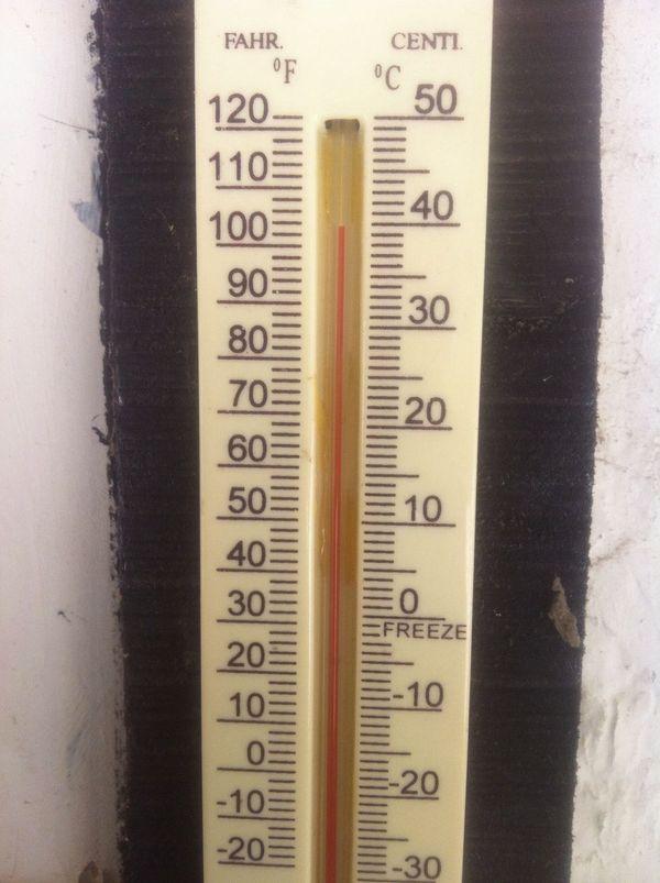 વર્ગની અંદર 39.1 ડીગ્રી તાપમાન