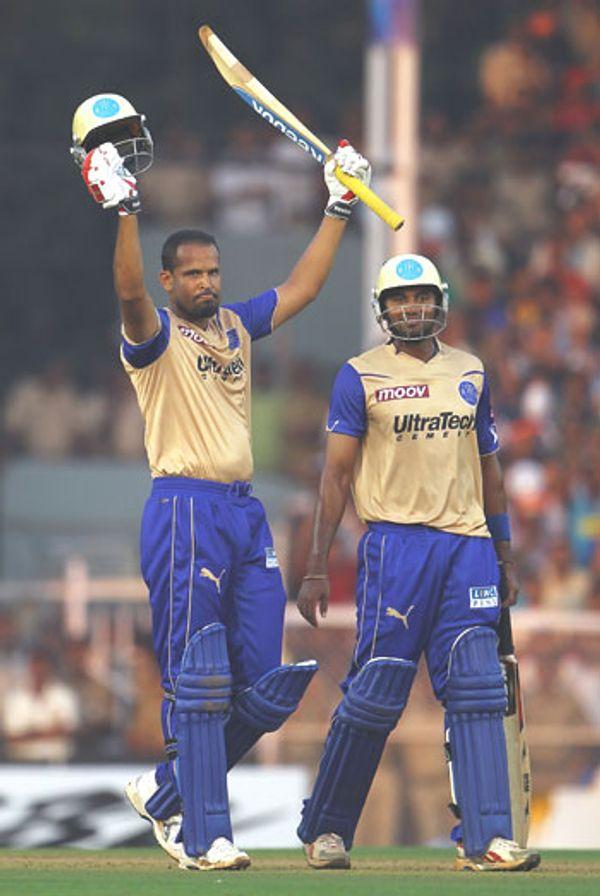 યુસુફ પઠાણે IPL 2008ની 16 મેચમાં 435 રન કર્યા અને 8 વિકેટ ઝડપી હતી. તેણે રોયલ્સને ચેમ્પિયન બનાવવામાં મહત્વની ભૂમિકા ભજવી હતી.