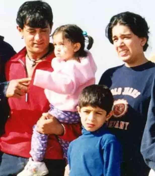 आमिर-रीना के दोनों बच्चों के साथ
