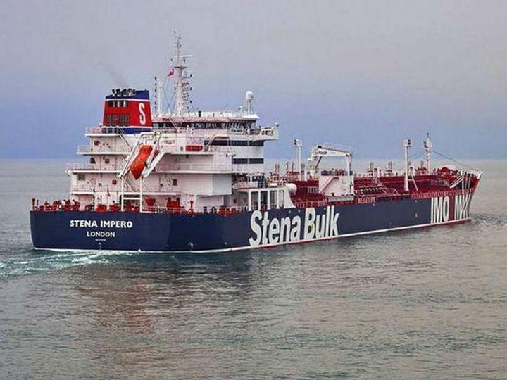 जब्त ब्रिटिश टैंकर स्टेना इमपेरो। - Dainik Bhaskar