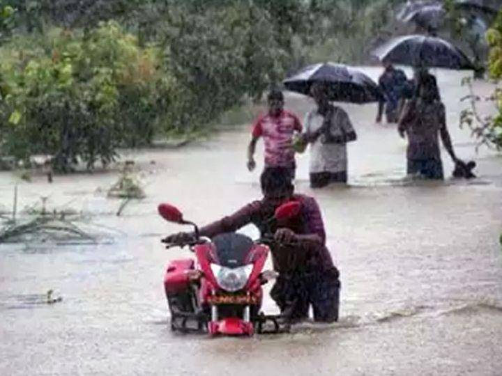 यह तस्वीर सिर्फ भारी बारिश की संभावना को प्रदर्शित करने के लिए इस्तेमाल की गई है। - Dainik Bhaskar