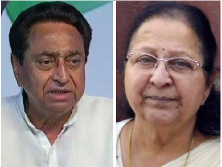 लोकसभा की पूर्व अध्यक्ष सुमित्रा महाजन ने मुख्यमंत्री कमलनाथ से मुलाकात की है। - Dainik Bhaskar