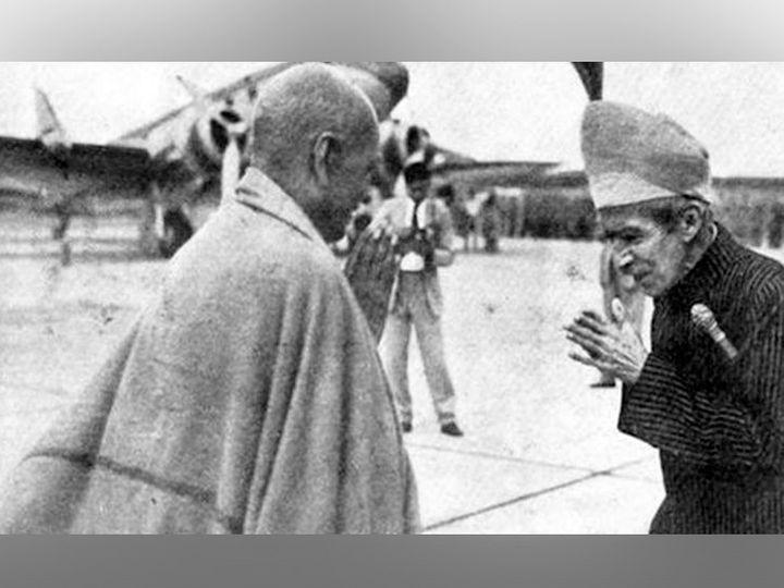 सरदार पटेल के साथ हैदराबाद के निजाम मीर उस्मान अली। - Dainik Bhaskar