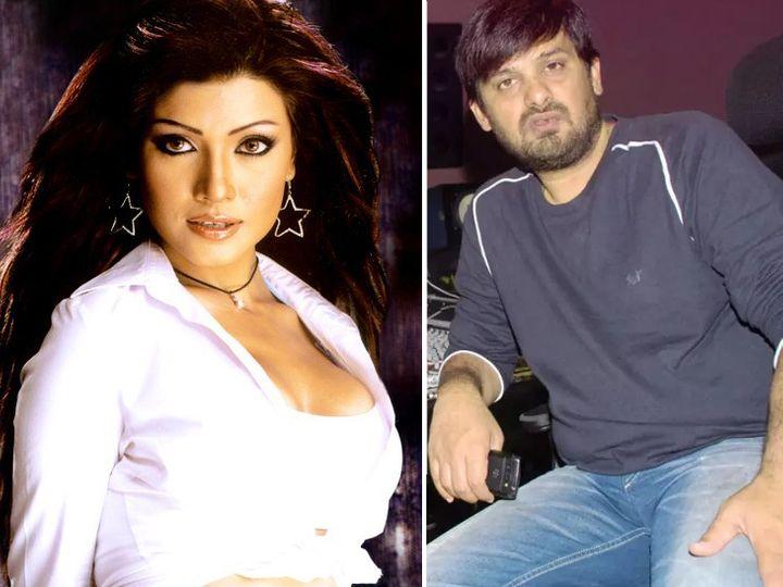 कोएना मित्रा और वाजिद खान। - Dainik Bhaskar
