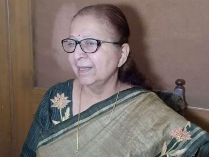 पूर्व लोकसभा स्पीकर सुमित्रा महाजन। - Dainik Bhaskar