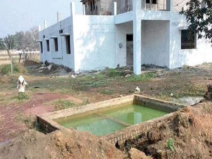 इसी टैंक में गिरकर हुई बच्ची की मौत - Dainik Bhaskar