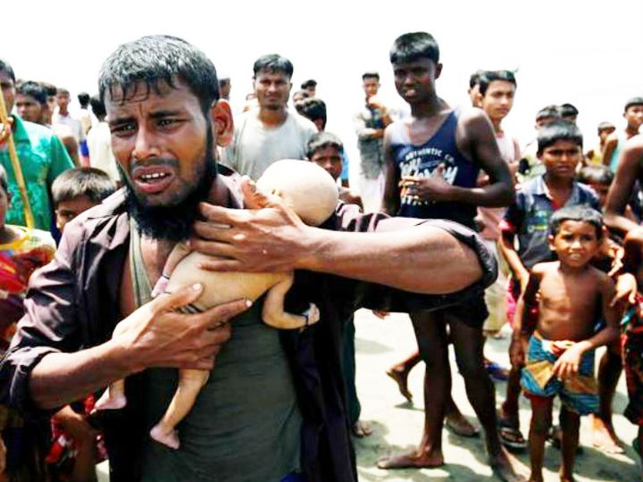 म्यांमार के रोहिंग्या मुस्लिम 2017 से भारत-बांग्लादेश समेत दूसरे देशों में शरण ले रहे हैं। (फाइल फोटो) - Dainik Bhaskar