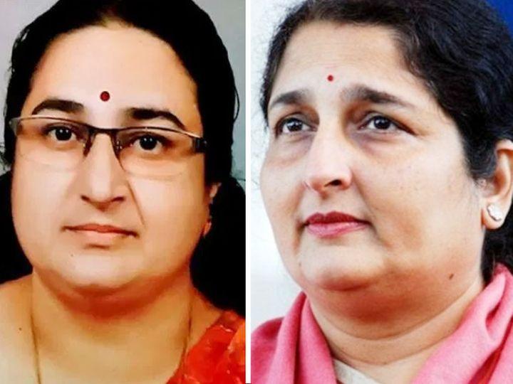 करमाला (बाएं) और अनुराधा पौडवाल। फोटो- इंडियन एक्सप्रेस। - Dainik Bhaskar