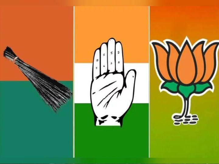 चुनाव के ऐलान के साथ ही तीनों राजनीतिक दल अपनी-अपनी सरकार बनाने के दावे कर रहे हैं। - Dainik Bhaskar