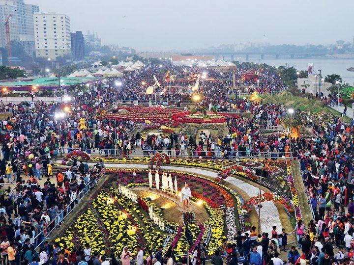 फ्लाॅवर शो के आखिरी दिन 70 हजार लोग उमड़ पड़े - Dainik Bhaskar