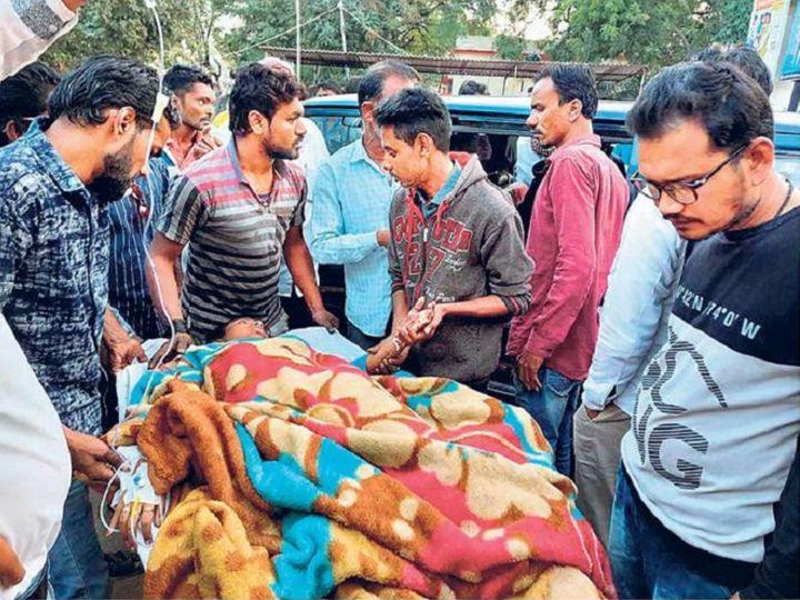 बिजली तार की चपेट में आकर झुलसी छात्रा को सिम्स किया गया रेफर। - Dainik Bhaskar