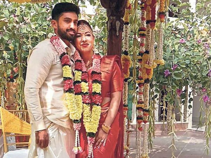 करुण नाइर की दक्षिण भारतीय परंपरा अनुसार शादी हुई। - Dainik Bhaskar