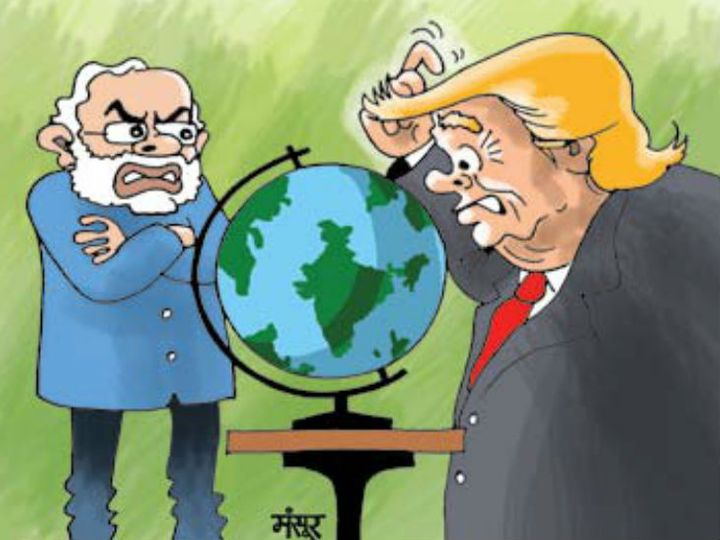 अमेरिकी अफसरों का कहना है कि ट्रम्प को भारत से सटे देशों की सीमाओं की जानकारी नहीं थी। - Dainik Bhaskar