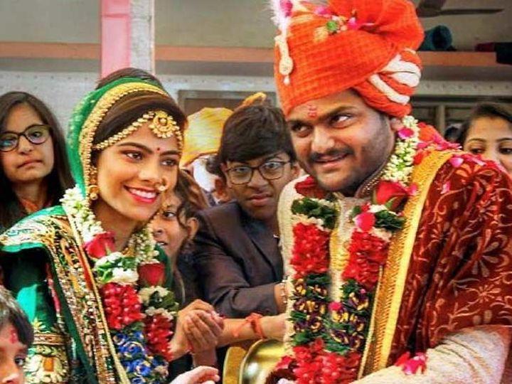 हार्दिक-किंजल की शादी की तस्वीर - Dainik Bhaskar