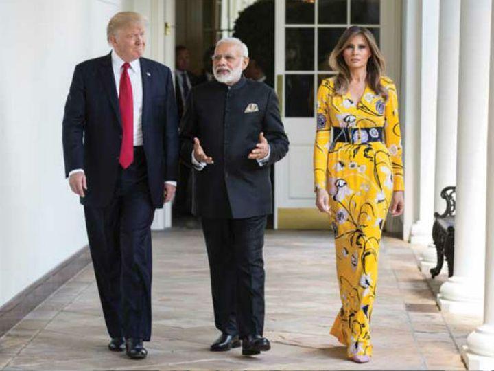 मोदी अब तक दो बार अमेरिका दौरे पर जा चुके हैं, दोनों ही बार वे डोनाल्ड ट्रम्प से मिले थे। - Dainik Bhaskar