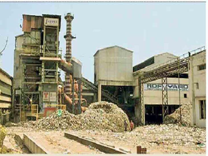 गारबेज प्राेसेसिंग यूनिट में 25 हजार टन कचरा डंप पड़ा हुआ था। - Dainik Bhaskar