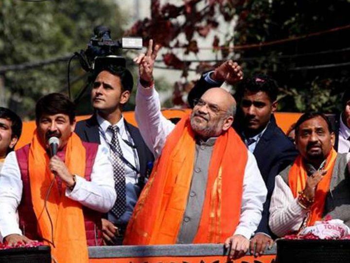 वोट पर्सेंट और सीटों से जुड़ी रिपोर्ट पर चर्चा के बाद शाह ने दिल्ली में आक्रामक चुनाव प्रचार किया। (फाइल फोटो) - Dainik Bhaskar