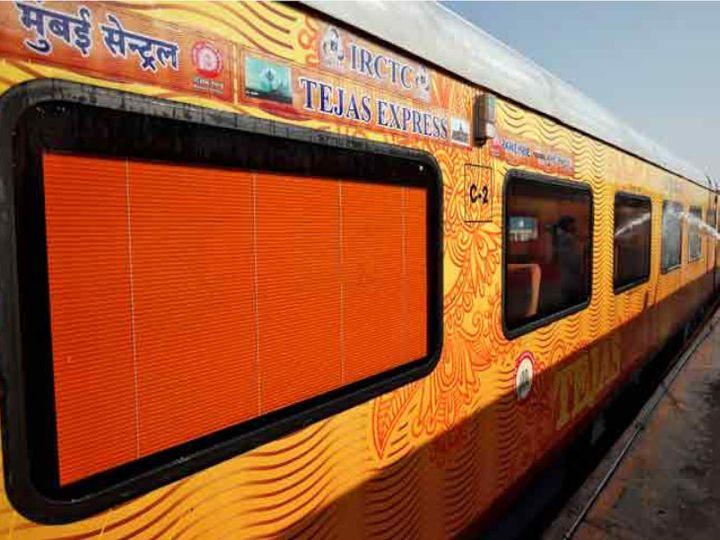 अभी तेजस एक्सप्रेस के नाम से देश में प्राइवेट ट्रेनें चलाई जा रही हैं। इन ट्रेनों का संचालन आईआरसीटीसी की ओर से किया जाता है। (सिंबॉलिक फोटो) - Dainik Bhaskar