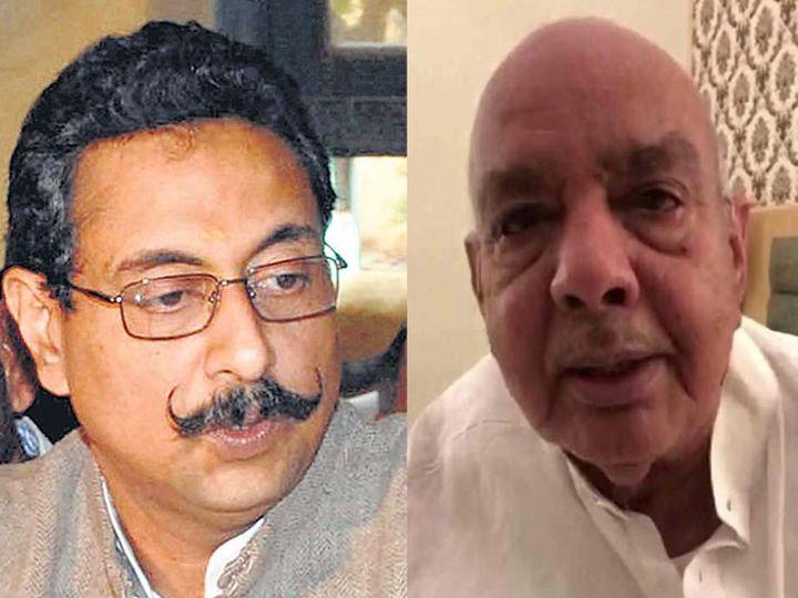 पायलट गुट के विधायक विश्वेंद्र सिंह और जयपुर वापस लौटे भंवरलाल शर्मा।(फाइल फोटो) - Dainik Bhaskar