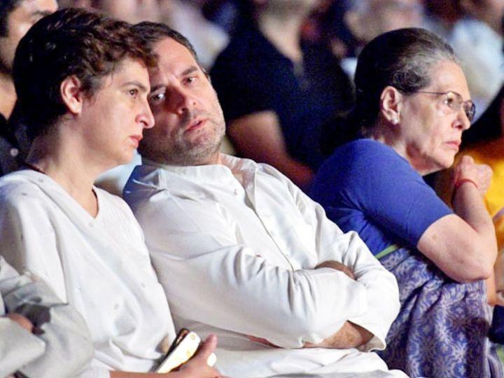 राहुल, प्रियंका और सोनिया गांधी। (फाइल फोटो) - Dainik Bhaskar