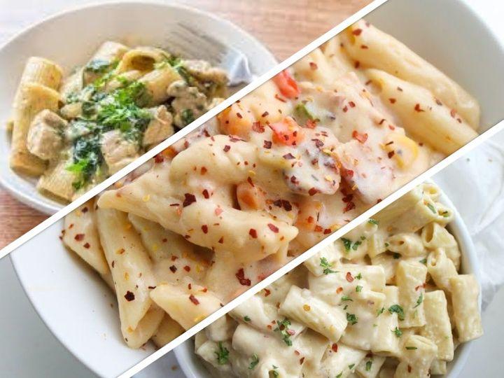 Make white sauce pasta for children in this rainy season, use mixed herbs to garnish it | बारिश के इस मौसम में बच्चों के लिए बनाएं व्हाइट सॉस पास्ता, इसे गार्निश करने के लिए मिक्स्ड हर्ब्स का इस्तेमाल करें