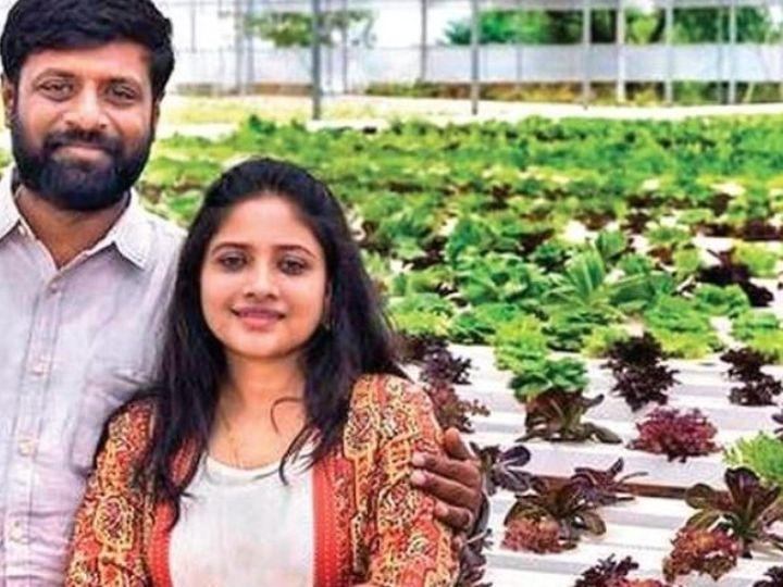 Hyderabadi Kapal Sachin and Shweta begin farming with 'Farm in the Box Concept', the largest supplier of vegetables and edible flowers in Mumbai, Chennai and Bangalore | हैदराबादी कपल सचिन और श्वेता ने 'फार्म इन द बॉक्स कॉन्सेप्ट' से की खेती की शुरुआत, मेट्रो सिटीज में सब्जियों व एडिबल फ्लॉवर्स के बने सबसे बड़े सप्लायर