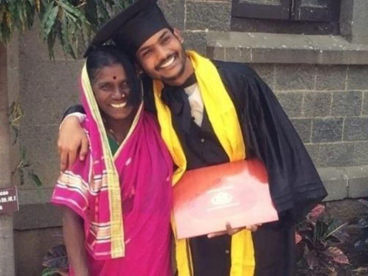 A mother made her son an IIT graduate with her own hard work, having forgotten her son's support in the Convocation Ceremony, has so far taken all the trouble | एक मां ने अपनी मेहनत से बेटे को बनाया आईआईटी ग्रेजुएट, कन्वोकेशन सेरेमनी में बेटे का साथ पाकर मां भुल गई अब तक उठाई सारी तकलीफें