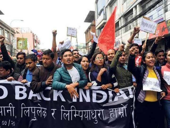 This photo is of the protest against India in June 2020 in Kathmandu, capital of Nepal. Such protests have intensified in Nepal in recent times. - File Photo