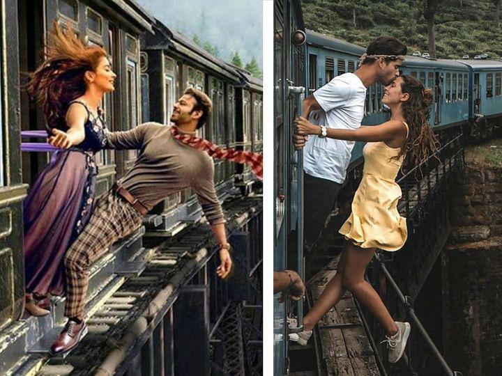 रकील और मिगुएल को इस फोटो के लिए काफी आलोचना झेलनी पड़ी थी। एला टाउन में ब्रिज से बेहद कम रफ्तार में यह ट्रेन निकल रही थी जब यह फोटो क्लिक किया गया था। - Dainik Bhaskar